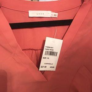 Lush Tops - Roll Tab Sleeve Tunic